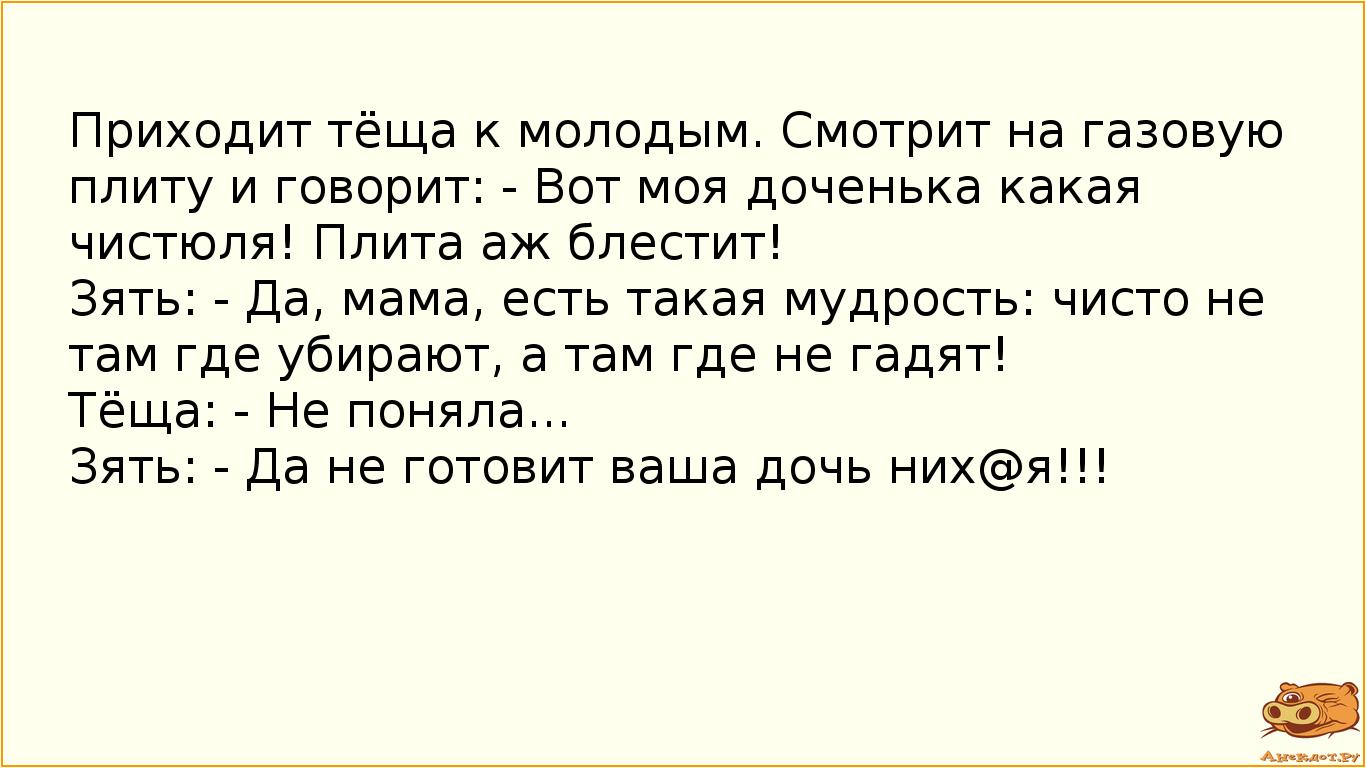Анекдоты Зять