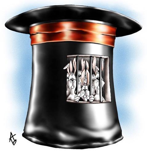 Карикатура: В заточении, Андрей Бузов