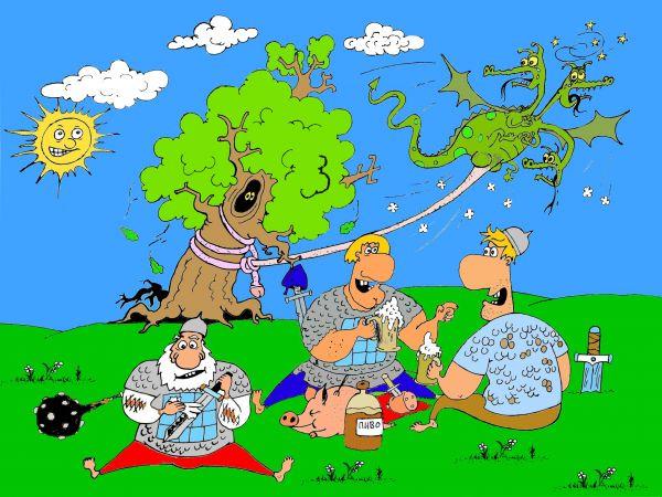 Карикатура: Идолище поганое