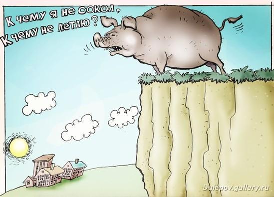 Карикатура: К чему я не сокол?, Андрей Дулепов(DULEPOV)