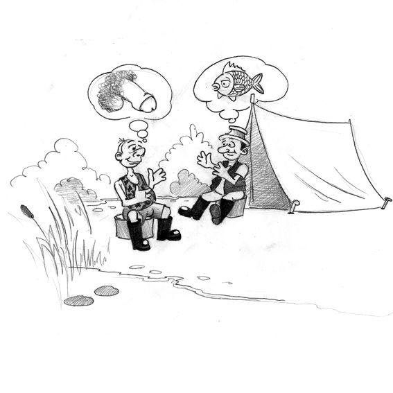Карикатура: на рыбалке, IgorHalko
