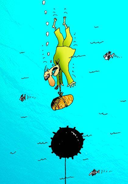 Карикатура: Мина, Вячеслав Шилов