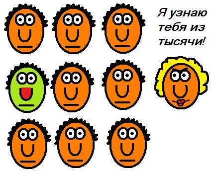 Карикатура: Я узнаю тебя из тысячи!, Валюша