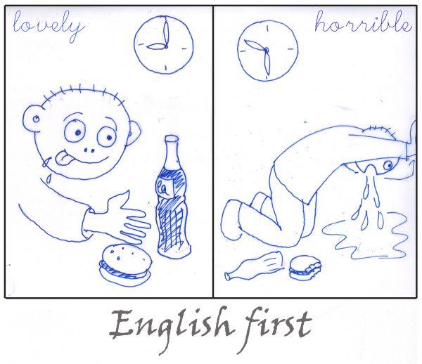 Карикатура: English first-02, Иван Туркин