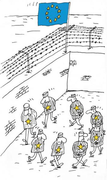 Карикатура: Еврозона, Вячеслав Шилов