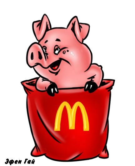 Карикатура: Макдональдс!, Эфен Гайдэ