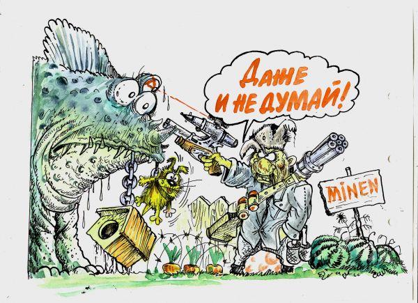 Карикатура: Годзилла из Нижнего Тагилла, Избасаров Бауржан