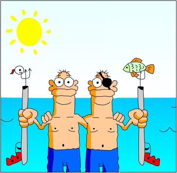 Хороший человек, смешные картинки про подводную охоту