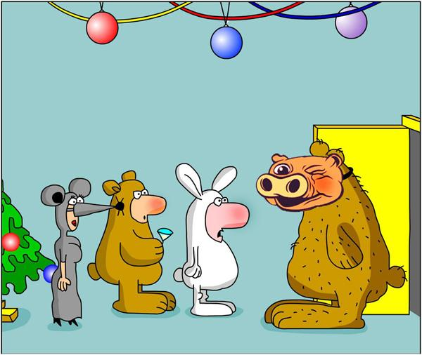 Карикатура: Бал-маскарад (оценка жюри +0.21), Дмитрий Бандура