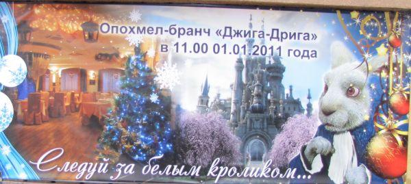 Карикатура: В 2011 году следуй за Белым Кроликом прямо к Ацкой Белочке..., Владимир Масалов