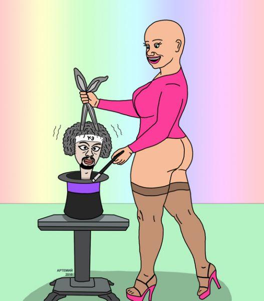 """Карикатура: возвращение """"розовой кофточки"""", artemij"""
