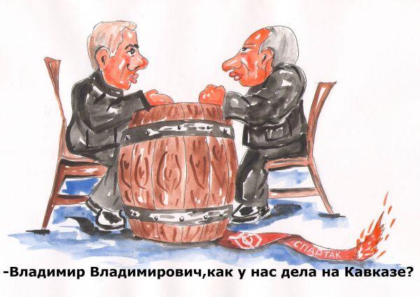Карикатура: У президента., владимир ву