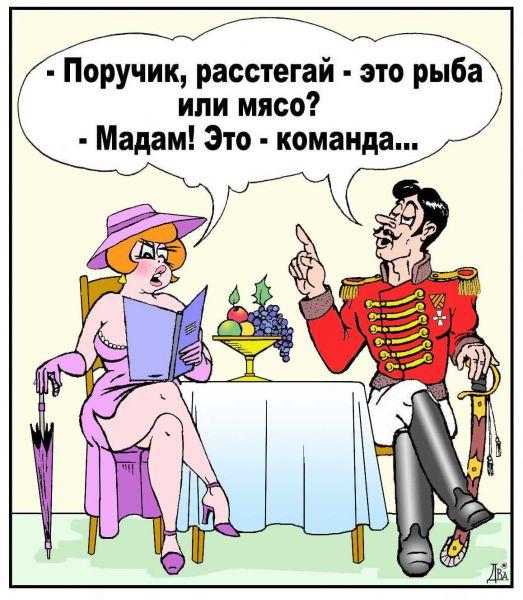 Карикатура: меню военной кухни, виктор дидюкин