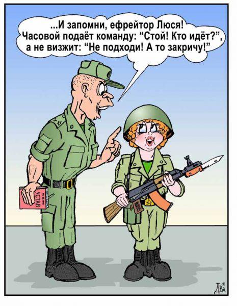 Карикатура: армейский феминизм, виктор дидюкин