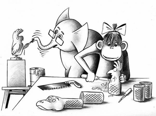 Карикатура: Новогодние подарки, Сергей Корсун
