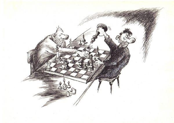 Карикатура: Промежуточный ход