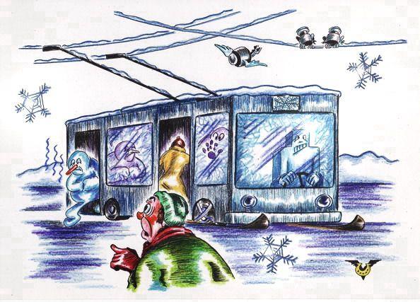 Карикатура: ТроллейбАйс, Владимир Уваров
