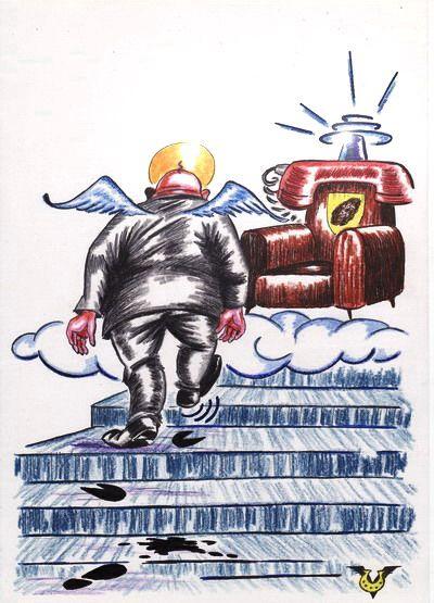 Карикатура: Топ-кресло, Владимир Уваров