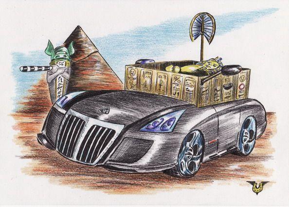 Карикатура: Саркофаг Люксус, Владимир Уваров