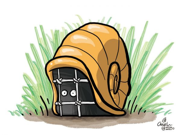 Карикатура: Домашний арест, Антон Ангел