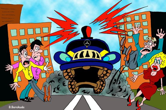 Карикатура: ...Царькам веде у нас дорога...