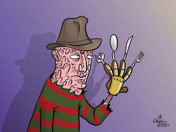 Карикатура: Швейцарский Фредди, Антон Ангел