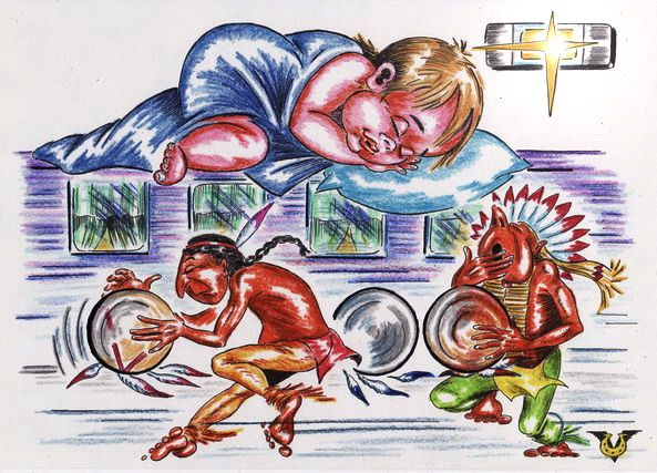 Карикатура: Вагонная колыбельная, Владимир Уваров