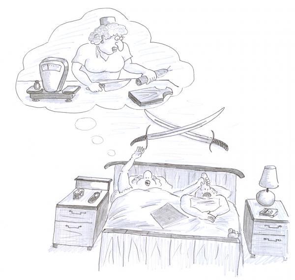 Карикатура: Сон продавщицы, Серебряков Роман