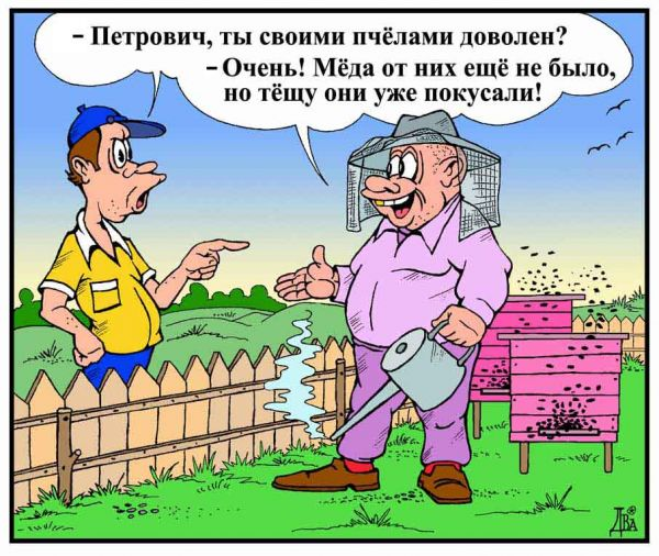 Карикатура: двойная польза, виктор дидюкин