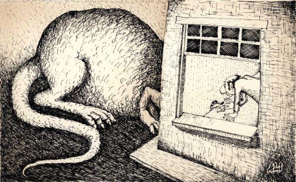 Карикатура: Мышь, Александр Ануфриев