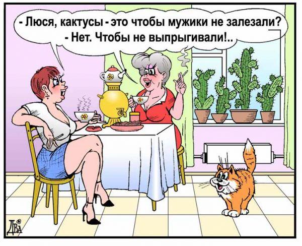 Карикатура: женский секрет, виктор дидюкин