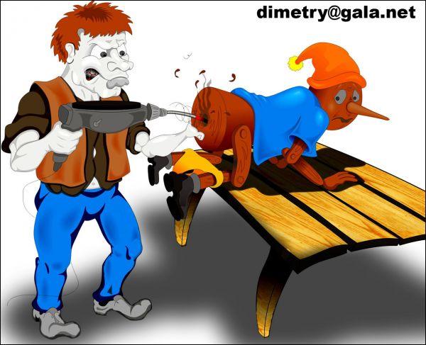 Карикатура: Суровое наказание, Дмитрий Субочев
