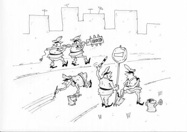 Карикатура: весна пришла .., Игорь Цикунов