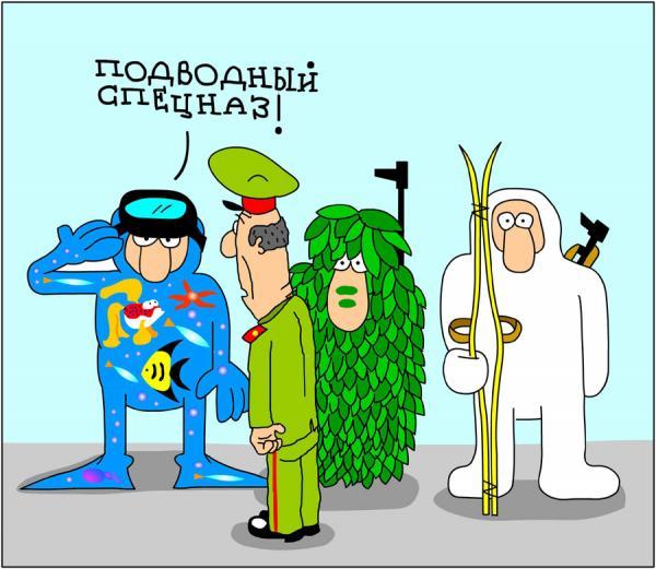 Карикатура: Камуфляж, Дмитрий Бандура