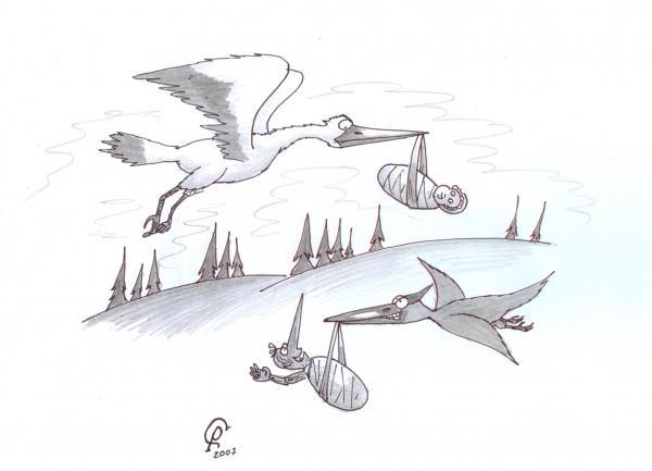 Карикатура: Рождение Буратино, Серебряков Роман