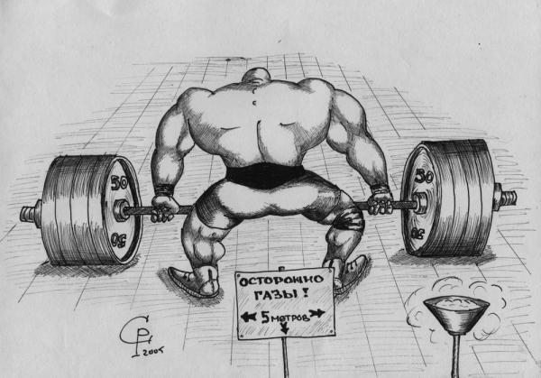 Карикатура: Тяжёлая атлетика, Серебряков Роман