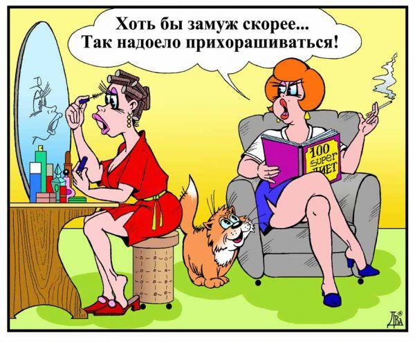Карикатура: женская мечта, виктор дидюкин