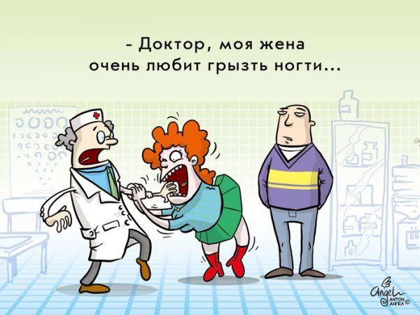 Карикатура: У врача, Антон Ангел
