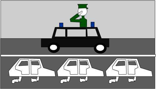 Карикатура: мигалки
