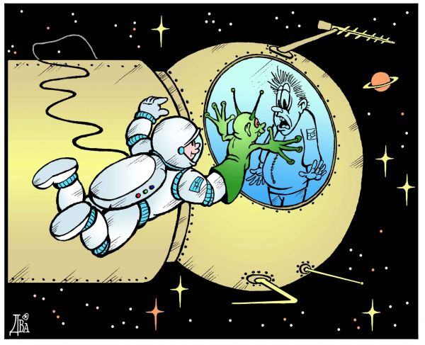 Карикатура: контакт, виктор дидюкин