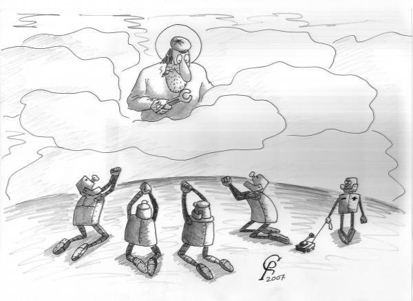 Карикатура: Молитва, Серебряков Роман