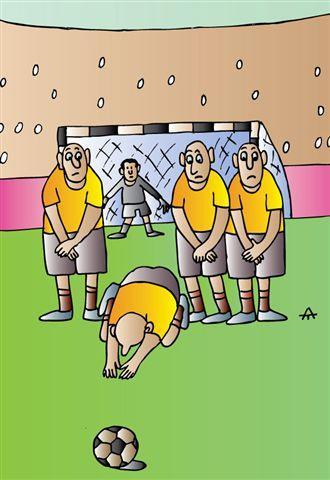 Карикатура: Пенальти, Алексей Талимонов