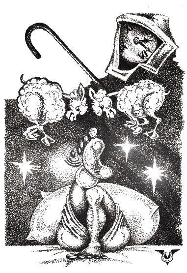 Карикатура: Бессонница, Владимир Уваров
