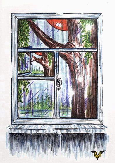 Карикатура: Вид из окна, Владимир Уваров