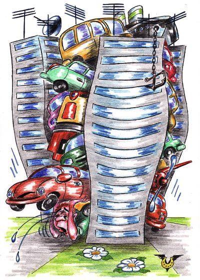 Карикатура: Мегапробкис, Владимир Уваров