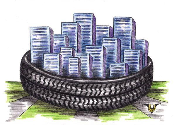 Карикатура: Автопитон, Владимир Уваров