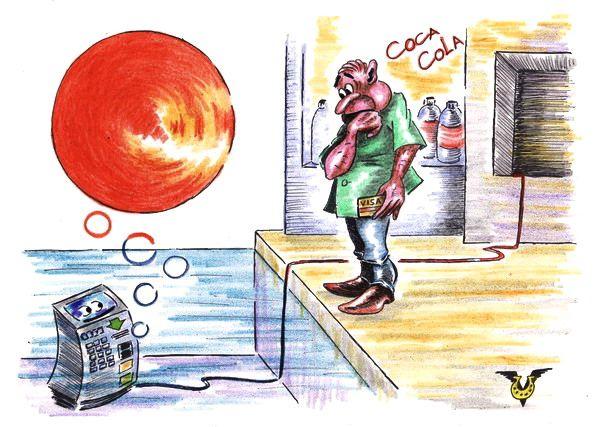 Карикатура: Прохладная водичка, Владимир Уваров