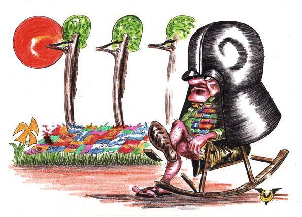 Карикатура: Настоящий полковник, Владимир Уваров