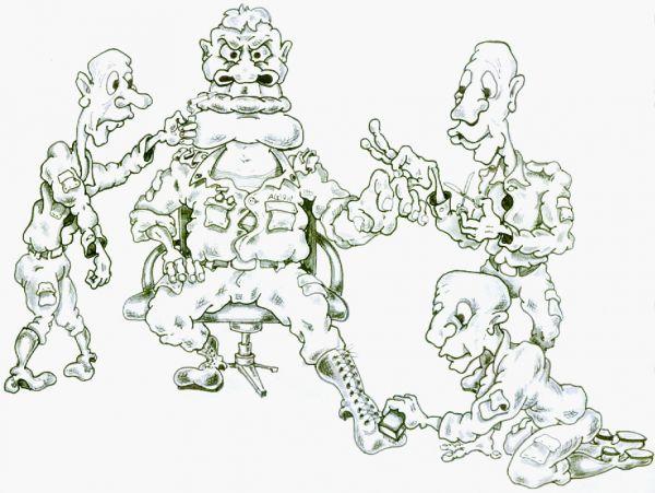 Карикатура: дедушка, Дмитрий Субочев