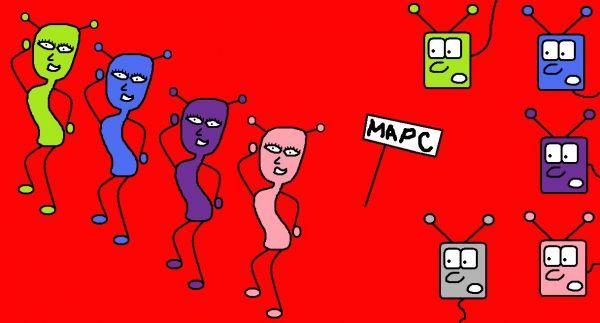Карикатура: Марсиане и марсианки